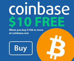 Coinbase - $10 free when you purchase $100 more.
